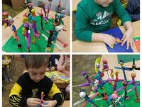 Мы творческие дети, Мы любим мастерить. Придумаем, раскрасим, наклеим ну и слепим!!!